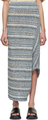 Stella McCartney Blue Knit Asymmetric Skirt