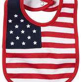 Carter's 4th Of July Flag Bib Red by