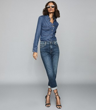 Reiss Mabel - Denim Shirt in Blue