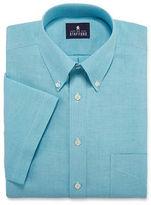 STAFFORD Stafford Travel Short-Sleeve Wrinkle-Free Oxford Dress Shirt