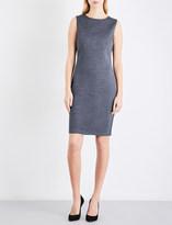 St. John Fitted sleeveless wool-blend dress