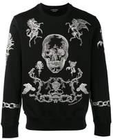 Alexander McQueen Skull Print Knitted Sweater