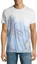Sol Angeles Paraiso Palm Tree Pocket T-Shirt, Blue