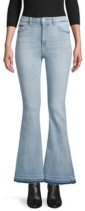 DL1961 Rachel High-Rise Released-Hem Flare Jeans