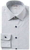 Murano Slim-Fit Button-Down Collar Paisley Repeating Print Dress Shirt