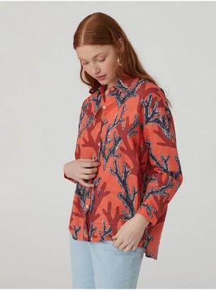 Nice Things Coral Print Shirt - 36