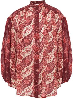 Zimmermann Eyes On Summer Oversized Printed Voile Shirt
