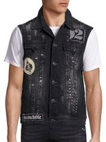 True Religion Cotton Blend Denim Vest