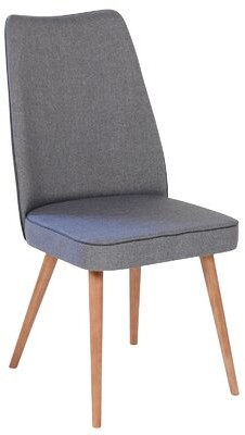 Joseph Allen Uphostered Side Chair Upholstery Color: Charcoal Gray