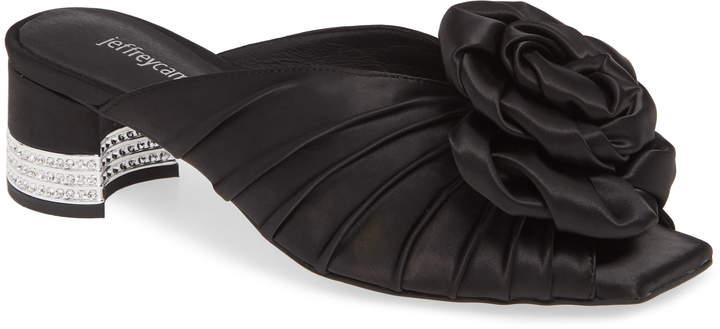 Jeffrey Campbell Rosette Crystal Embellished Slide Sandal