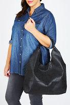 Yours Clothing Black Slouch Handbag