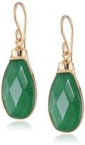 Devon Leigh Green Onyx 24k Gold Foil Drop Earrings