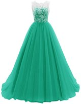 Dresstells® Long Tulle Wedding Dress Bridesmaid Gown Prom Party Dress