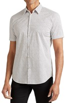 John Varvatos Confetti Short Sleeve Slim Fit Button-Down Shirt