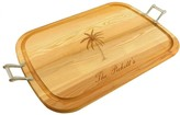 The Well Appointed House Personalized Large Wooden Handled Cutting Board with Palm Tree Design