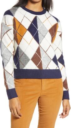 Halogen x Atlantic-Pacific Argyle Sweater