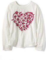 Classic Girls Knit Pajama Top-Deep Scarlet