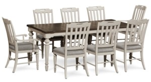 Barclay Expandable Dining Furniture, 9-Pc. Set (Dining Table, 6 Upholstered Side Chairs & 2 Upholstered Arm Chairs)