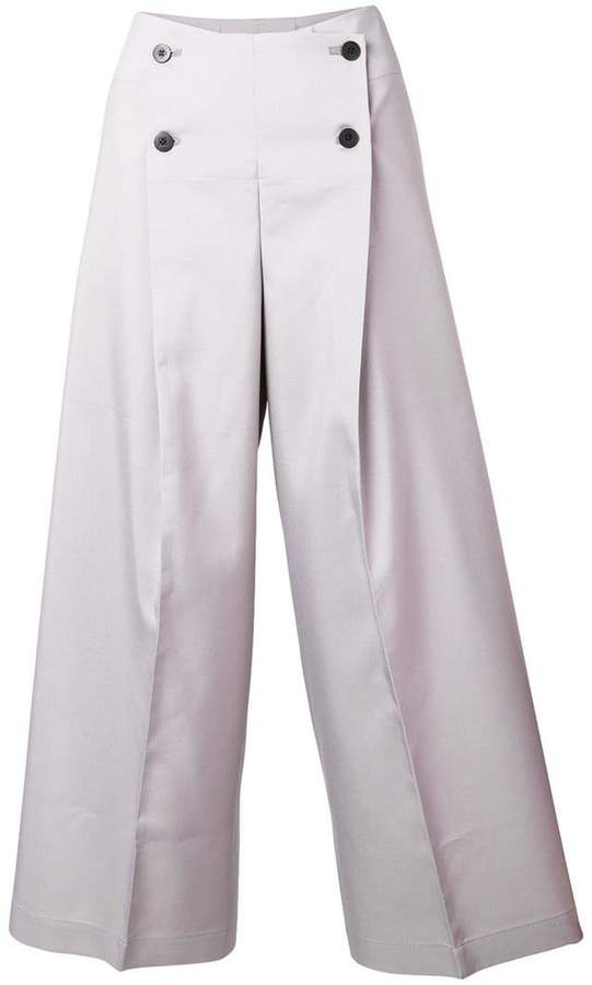 132 5. cropped buttoned trousers