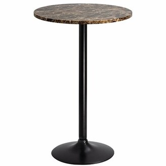 Orren Ellis Mahnomen Counter Height Dining Table Top Color: Black