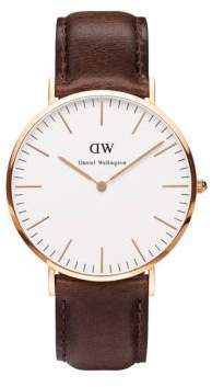 Daniel Wellington Classic Bristol Leather Strap Watch