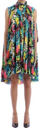 Balenciaga Multicolor Pleated Dress