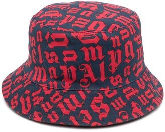 Palm Angels Logo-Print Bucket Hat