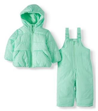 Child of Mine by Carter's Baby Toddler Girl Winter Jacket Coat & Snow Bib Snow Pants, 2pc Snowsuit Set