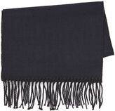 Topman Black and Navy Double Faced Scarf