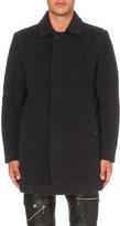 Diesel W-velvet wool-blend coat
