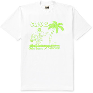Y,Iwo Gym Bums Of California Printed Cotton-Jersey T-Shirt