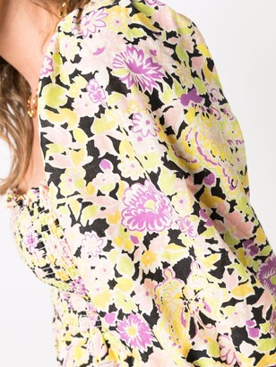 Rixo Saskia floral midi dress