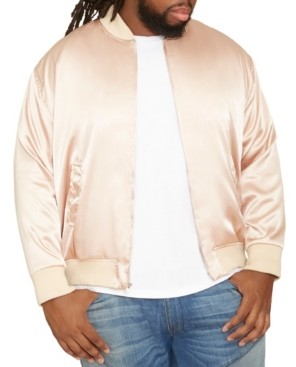 Mvp Collections By Mo Vaughn Productions Men's Big & Tall Mvp Collections Satin Bomber Jacket