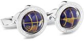 Tateossian Globe Cage Sterling Silver Multi-stone Cufflinks - Silver