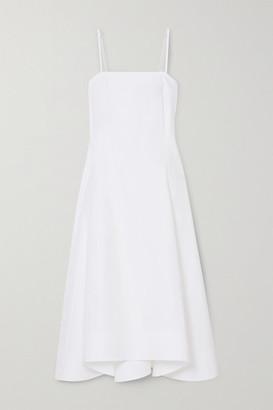 3.1 Phillip Lim Pleated Cotton-blend Poplin Midi Dress - White