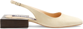Jacquemus Sculptured-heel slingback suede shoes