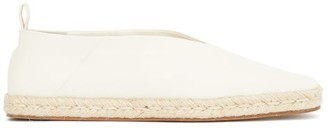 Jil Sander Square-toe Leather Espadrilles - White