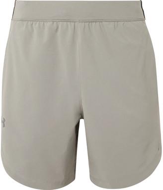 Under Armour UA Mesh-Panelled Shell Shorts - Men - Gray