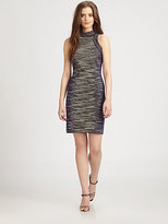 M Missoni Space-Dyed Fitted Knit Dress