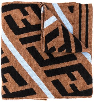 Fendi Kids FF print scarf