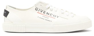 Givenchy Tennis Light Logo-print Canvas Trainers - Mens - White