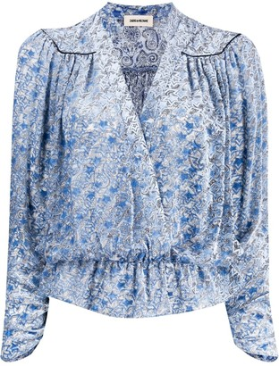 Zadig & Voltaire Star print wrap-front blouse