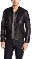 John Varvatos Collection Men's Short Zip Leather Jacket