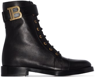 Balmain Ranger lace-up leather ankle boots