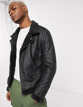 Bolongaro Trevor shearling leather jacket
