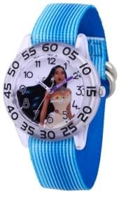 EWatchFactory Disney Princess Pocahontas Girls' Clear Plastic Watch 32mm