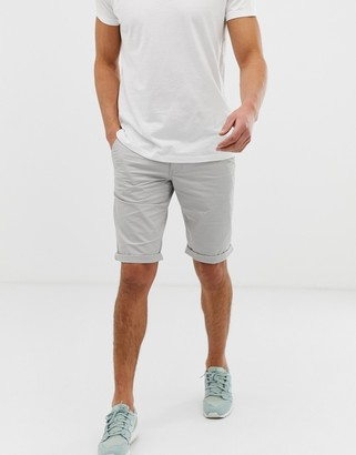 Esprit slim fit chino short in gray