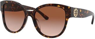 Tory Burch Round Acetate Sunglasses