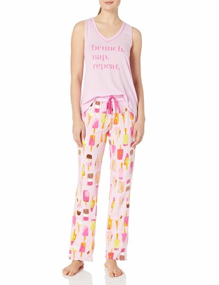 Mae Amazon Brand Women's Sleepwear Swing Tank Pajama Set