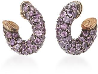 Gioia Bini Pirate 18K Gold, Oxidized Silver And Sapphire Earrings
